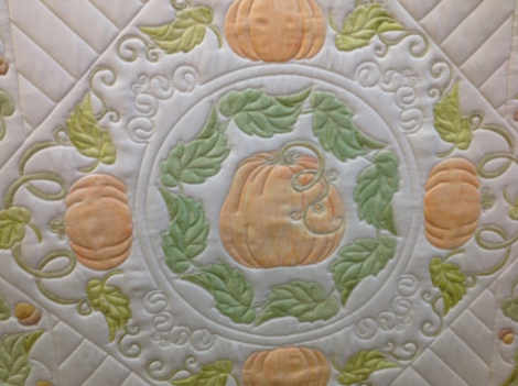 Detail of the center pumpkin